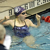 Paige Martin of Pickerington Central reacts after her 100 yard freestyle.