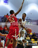 Corinth's Klilah Cox (24) goes to the hoop as Franklinton's Issaih Harlon (52) tries to block the shot. Corinth Holders won the game played at CHHS 61-39.