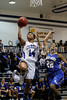 Clayton's Vernessa Hinnant (14) drives past East Wake's T. Knuckles (22) on the way to an early basket.