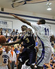 SSS's David Lucas (3) tries to get his shot around the block attempt by Clayton's Gary Clark (11). Clayton won the GNR Conference game 71-54  played at Clayton High on Feb. 3, 2012. Photo by Dean Strickland OD
