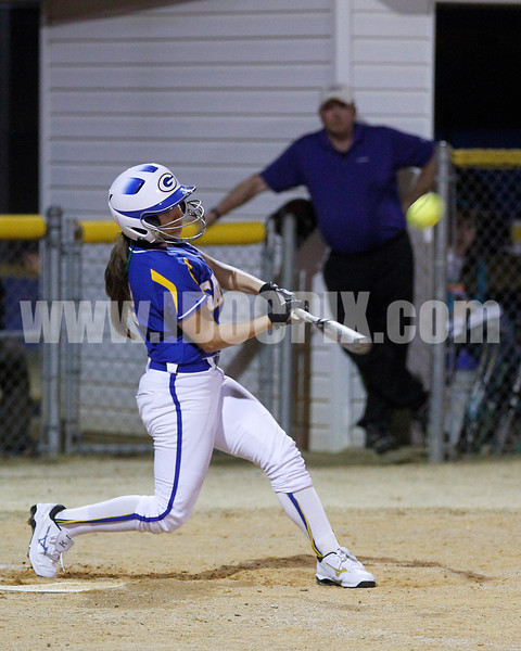 Alyssa D'arco (2) hits this sac fly to score GHS run.