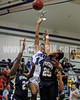 Clayton High's Vernessa Hinnant (14) gets of a shot as SSS's Sabrina Shepeard (23) and Diamond Blackston (25) tries to defend. Clayton won the GNR Conference game 74-48 played at Clayton High on Feb. 3, 2012. Photo by Dean Strickland OD