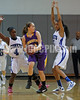 Cyarra Pierson (41) gets trapped by Clayton's Tajah Clark (4) and Amber Caudle (5).Photo by Dean Strickland OD.