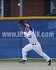 Matt Bien (LF) fields a long fly by Garner's Tyler Marshburn(14) in the 1st inning