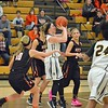 Paul DiCicco - The News-Herald<br />  Brush's Jenna Perry shoots in traffic.
