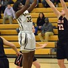 Paul DiCicco - The News-Herald<br /> Brush's DaJamia Martin, with a jumper from 12 feet.