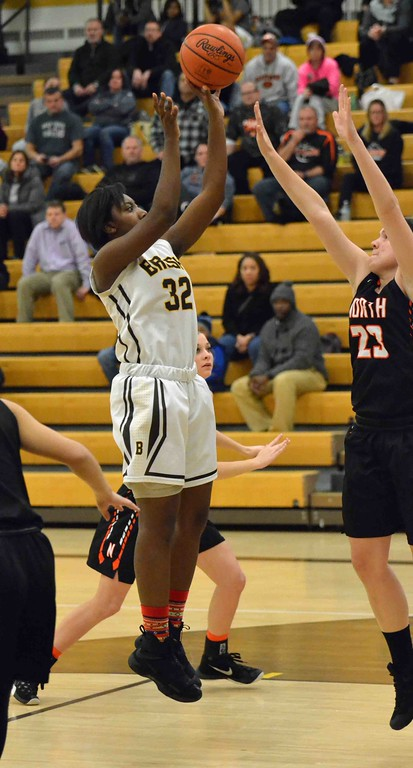 . Paul DiCicco - The News-Herald Brush�s DaJamia Martin, with a jumper from 12 feet.