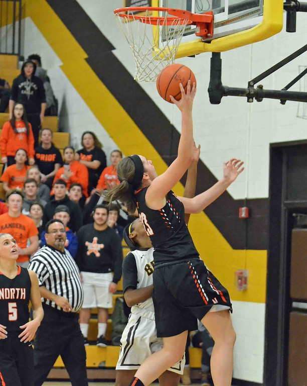 . Paul DiCicco - The News-Herald North�s Destiny Leo with a layup late in the game.