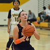 Paul DiCicco - The News-Herald<br /> North's Samantha Pirosko lining up for a foul shot.