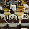 Paul DiCicco - The News-Herald<br />  Brush's starting five, getting ready to be announced before facing North.