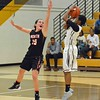 Paul DiCicco - The News-Herald<br /> Arielle DeBase pulls up for a jumper from 15 feet.
