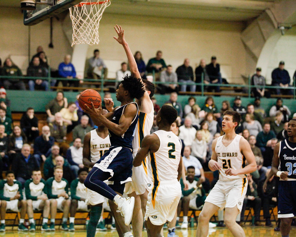 . Jenna Miller - The News-Herald Scenes from the Benedictine vs. St. Edward boys basketball game on Jan. 6, 2018.