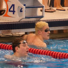 2017 - Swimming - Western Reserve Championships at Spire Institute.  Willoughby South swimmer Dino Jajcanin checks his time after winning the 50 yard Freestyle in 21.90 a new meet record. David Turben - The News-Herald