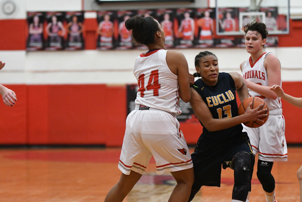 . Patrick Hopkins - The News-Herald Photos from the Euclid vs. Mentor girls basketball game on Jan. 10, 2018.