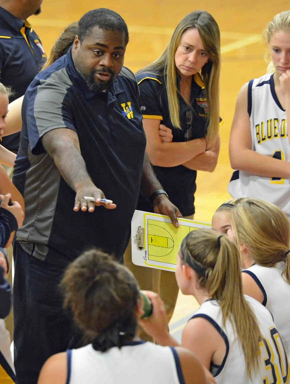 . Paul DiCicco - The News-Herald Wickliffe�s coach, Anthony Wilson talks strategy.
