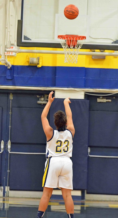 . Paul DiCicco - The News-Herald Wickliffe�s Stephanie Martin making a foul shot.