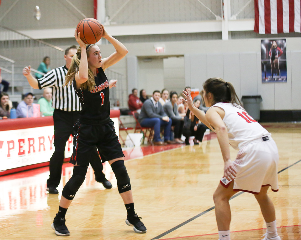 . Coleen Moskowitz - The News-Herald Photos form the Cornerstone Christian vs. Perry girls basketball game on Jan. 17, 2018.