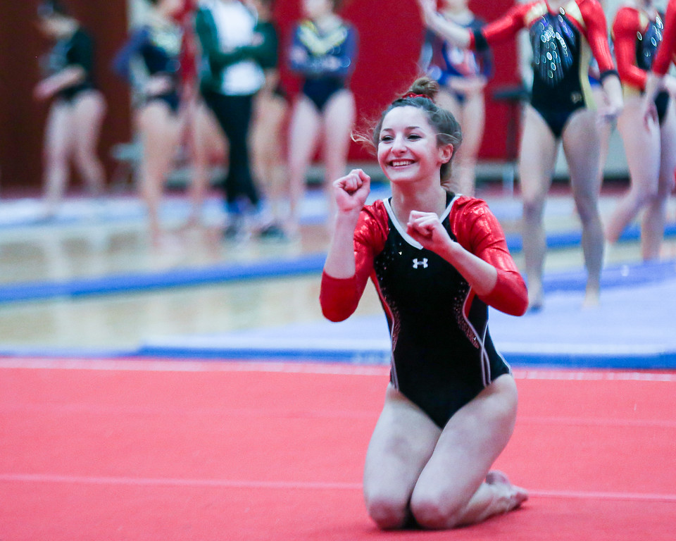 . Coleen Moskowitz - The News-Herald Kenzi Gredence on the floor during the Rock n\' Roll Classic on Jan. 21 at Brecksville-Broadview Heights.