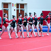 Coleen Moskowitz - The News-Herald<br /> Perry and Mentor gymnasts head to greet judges on the floor during the Rock n' Roll Classic on Jan. 21 at Brecksville-Broadview Heights.