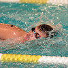 Paul DiCicco - The News-Herald<br /> Wickliffe High School Boys 100 yard Freestyle swimmer, Tyler Hasul, competes at the CVC Swimming and Diving Meet on Jan 21.
