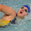 Paul DiCicco - The News-Herald<br /> Wickliffe High School Girls 100 yard Freestyle swimmer, Rachel Erich, competes at the CVC Swimming and Diving Meet on Jan 21.