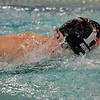 Paul DiCicco - The News-Herald<br /> Gates Mills Hawken Girls 200 yard Freestyle swimmer, Portia Del Rio Brown, competes at the CVC Swimming and Diving Meet on Jan 21.