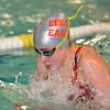 Paul DiCicco - The News-Herald<br /> Geneva High School Girls 200 yard Individual Medley swimmer, Marissa Covetta, competes at the CVC Swimming and Diving Meet on Jan 21.