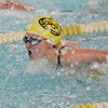 Paul DiCicco - The News-Herald<br /> Wickliffe High School Girls 100 yard Butterfly swimmer, Sara Formica, winning her heat at the CVC Swimming and Diving Meet on Jan 21.