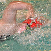 Paul DiCicco - The News-Herald<br /> Perry High School Girls 100 yard Freestyle swimmer, Morgan Scales, competes at the CVC Swimming and Diving Meet on Jan 21.