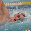 Paul DiCicco - The News-Herald<br /> Gates Mills Hawken Boys 200 yard Freestyle swimmer, Zeb Hart, competes at the CVC Swimming and Diving Meet on Jan 21.