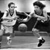 Kristyn Force of West Geauga and Mary Deitrick of Mentor in February 1993.