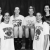 News-Herald Classic, 1995. Left to right, Susan Cinadr, Michelle Jones, Ginny Auld, Sonja Brainard, Heather Rosneck, Kelly Williams.