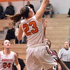 Paul DiCicco - The News-Herald<br /> North's Destiny Leo drives in for a layup.