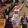 Paul DiCicco - The News-Herald<br /> Eastlake North's Destiny Leo takes it to the hoop, as she did all night.