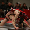 Coleen Moskowitz - The News-Herald<br /> Kyle Rowan of Perry defeats Brett Szuhay of Crestwood at 106 pounds.