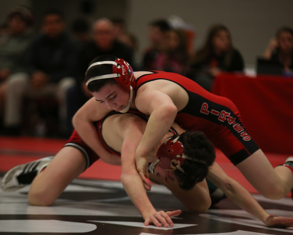 . Coleen Moskowitz - The News-Herald Kyle Rowan of Perry defeats Brett Szuhay of Crestwood at 106 pounds.