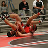 Coleen Moskowitz - The News-Herald<br /> Jared Keefer of Perry wrestles Josh Ondash of Crestwood at 120 pounds. Ondash won the match.