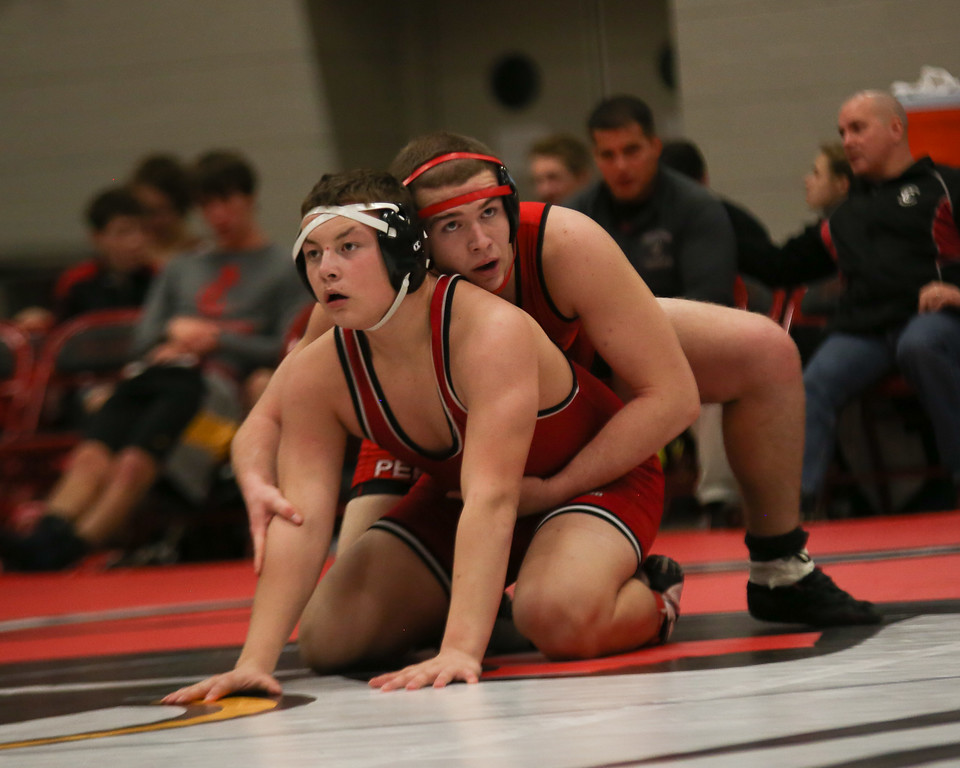 . Coleen Moskowitz - The News-Herald Action from the Perry wrestling dual on Jan. 25.