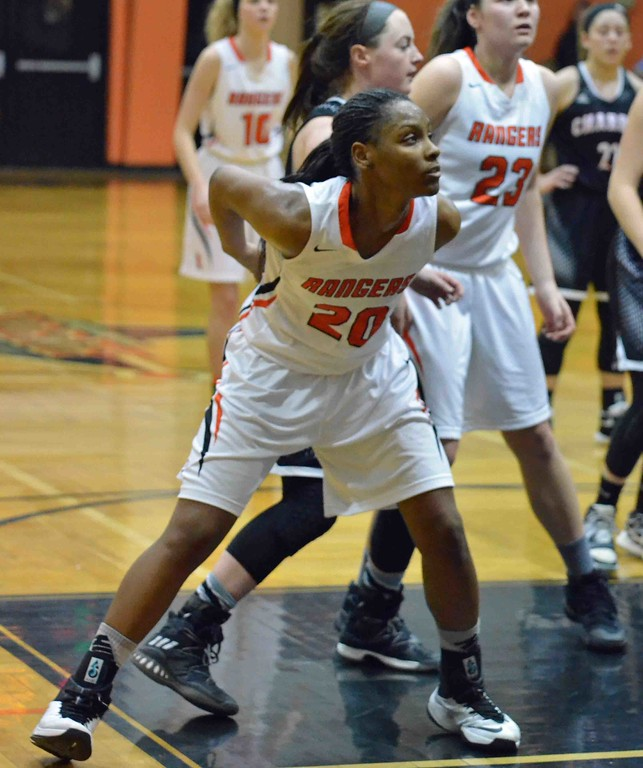 . Paul DiCicco - The News-Herald North�s Anaunda Lyons boxes out down low on a foul shot.