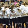 Paul DiCicco - The News-Herald<br />  The visiting Chardon Hilltoppers team huddle before their game against the hosting Eastlake North Rangers on Jan 28.