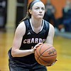 Paul DiCicco - The News-Herald<br /> Chardon's Syndey Feller attempts a free-throw late in the game, which Chardon went on to win.