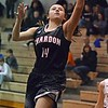 Paul DiCicco - The News-Herald<br /> Chardon's Syndey Feller with a left-handed lay up late in the game.