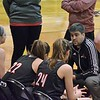 Paul DiCicco - The News-Herald<br /> Chardon Head Coach, Cullen Harris talks with his team at the end of the first quarter of play.