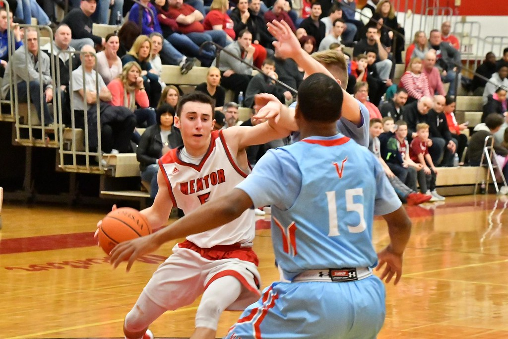 . Brittany Chay - The News-Herald Photos from the VASJ at Mentor boys basketball game on Feb. 3, 2018.