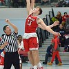 Paul DiCicco - The News-Herald<br /> The Opening Tip of the Mentor Cardinals against the VASJ Vikings on Feb 4.