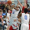Paul DiCicco - The News-Herald<br /> VASJ's Jerry Higgins drives to the basket against Mentor on Feb. 4 at VASJ.