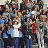 Paul DiCicco - The News-Herald<br /> VASJ fans celebrate their 66-61 victory over the Mentor Cardinals on Feb 4.