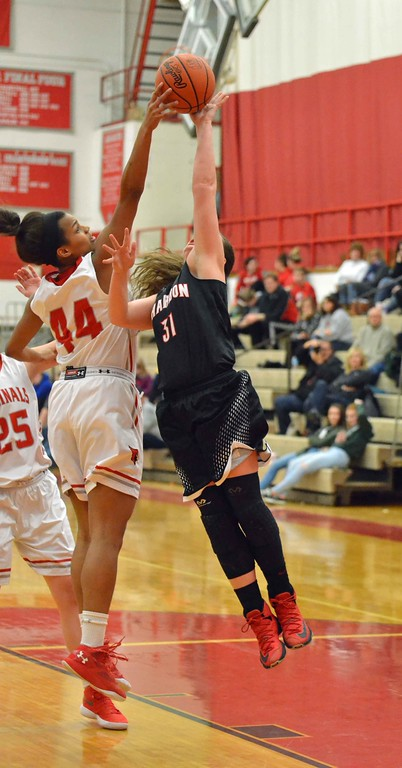 . Paul DiCicco - The News-Herald Photos from the Chardon at Mentor girls basketball game on Feb. 5, 2018.