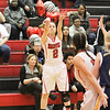 Barry Booher - The News-Herald<br /> Danielle Cruz launches a three pointer.