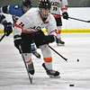 Jon Behm - The Morning Journal<br /> North Olmsted's Riley Vertosnik leads a breakaway against Kentson during a Baron Cup I quarterfinal at Brooklyn's John M. Coyne Recreation Center on Feb. 9.